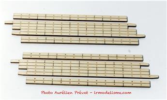 Planchers de PN biais à gauche de 7m80