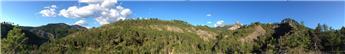 Fond panoramique de décor Montagne - 40 cm