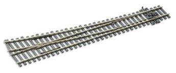 Aiguille courbe à droite electrofrog rayon 1524mm code 75