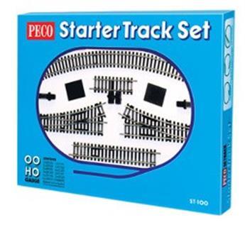 Coffret de départ Setrack rails code 100 (1 ovale avec 2 voies de garage)