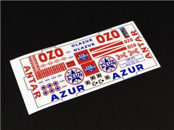 Adhésifs enseignes OZO, ANTAR, AZUR