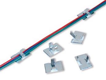 Clips adhésifs pour câbles