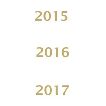 Millésimes 2015 à 2017