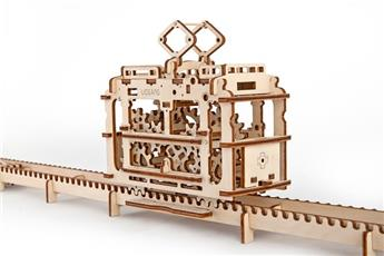 Tramway avec rail à assembler