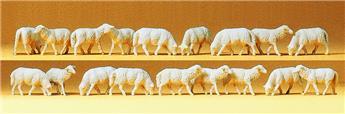 18 moutons - H0 - Preiser