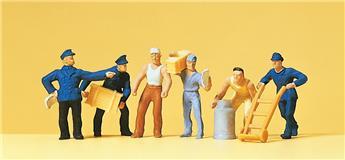 Personnel d´entrepôt 6 figurines - H0 - Preiser
