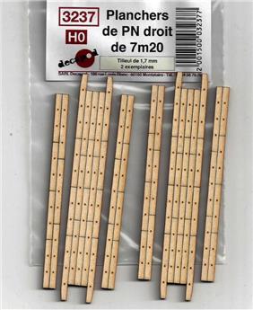 Planchers PN  droits de 7m20