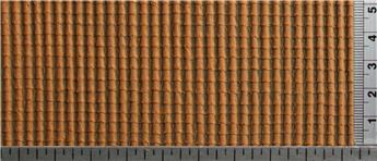 Tuile 1/2 ronde couleur brique