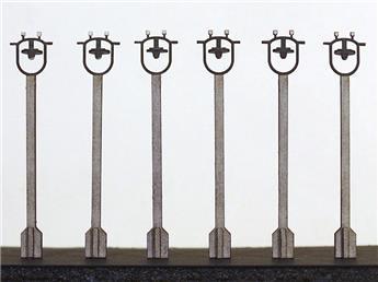 6 Lampadaires de Quai (SNCF Années 1950-1960) (non fonctionnels)
