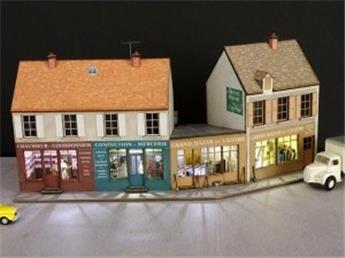 3 Maisons en angle de rue 150° (angle à droite ou à gauche) 3 commerces