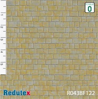 Mur de pierres de taille ocre gris polychrome