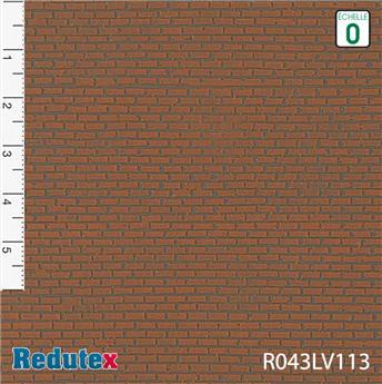 Briques irrégulières rouge foncé