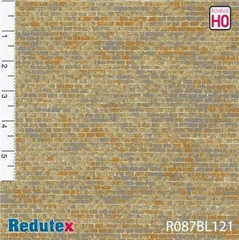 Mur de pierres ocre gris polychrome