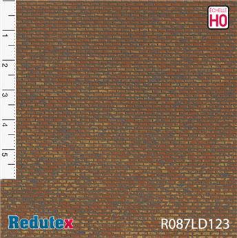Briques régulières rouge foncé polychrome