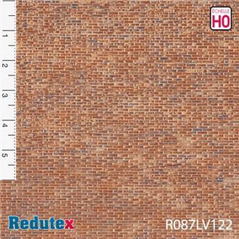 Briques irrégulières rouge polychrome