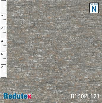 Mur de pierres plates gris rouge polychrome