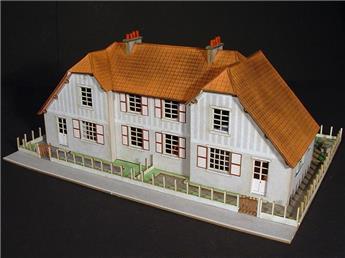 Cité cheminote : Maisons jumelles type 2B