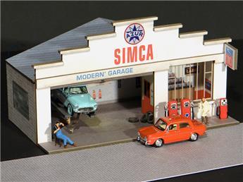 Façade petit garage Simca