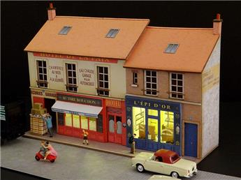 Façade Vitrines Café et Boulangerie