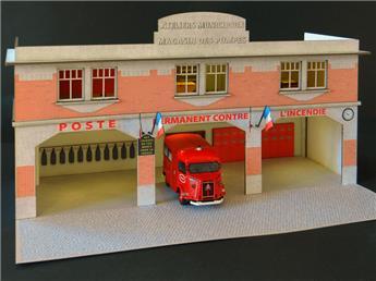 Façade caserne des pompiers