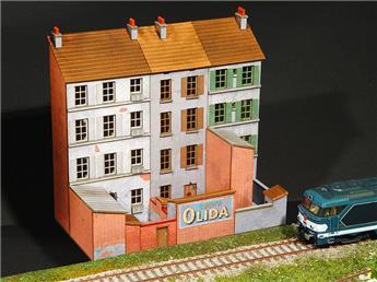 Arrière bloc trois immeubles droits L=180mm