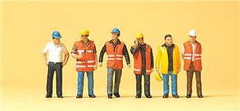 Ouvriers avec gilet de signalisation - H0 - Preiser
