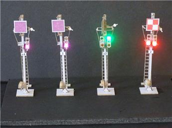 Kit de 4 simples signaux mécaniques sur mât unifié