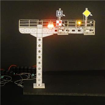 Potence courte portant 1 à 2 signaux mécaniques simples ou doubles