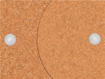 Toitures coniques en tuiles plates et tuiles en queue de castor