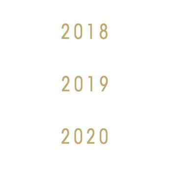 Millésimes 2018 à 2020