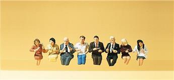 Passagers assis pour votre restaurant - H0 - Preiser