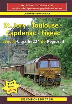 St Jory - Toulouse - Capdenac - Figeac avec la classe 66224