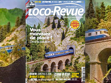 Loco-Revue n°857 décembre 2018 - Vous manquez de place ? On a la solution !