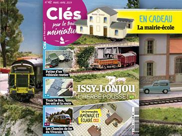 Clés pour le train miniature n°42 mars-avril 2019 Issy-Lonjou l'herbe pousse !