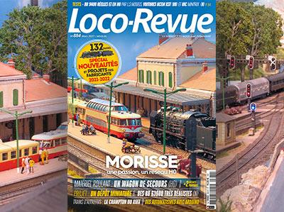 Loco-Revue n°884 - Mars 2021 - Numéro 132 pages spécial nouveautés et projets des fabricants 2021