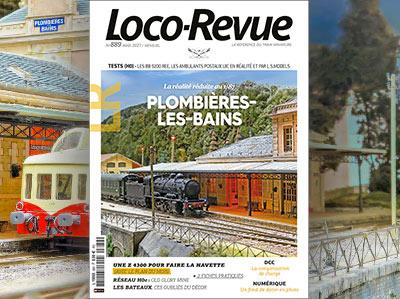 Loco-Revue n°889 - Août 2021 - Retour à Plomblères-les-Bains